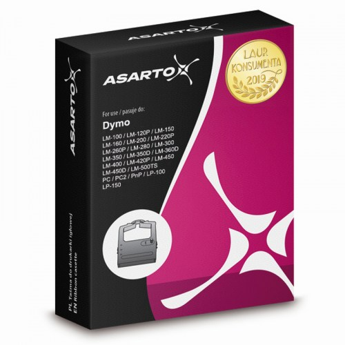 Taśma Asarto do DYMO 40913 D9 LabelManager black